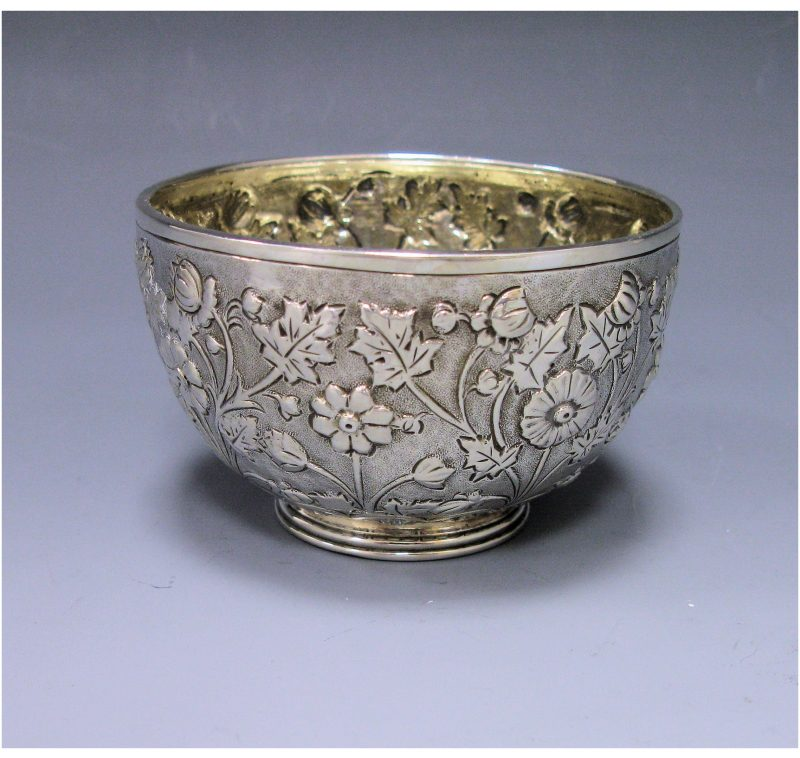 Antique Silver Victorian Bowl made in 1879