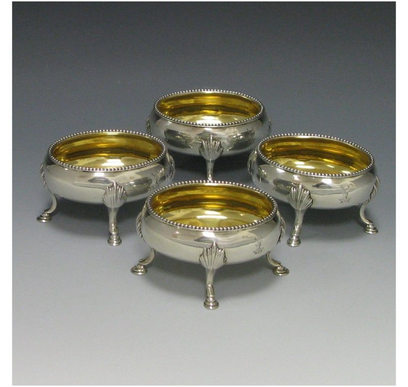 Set of Four George III Antique Silver Salts made in 1779