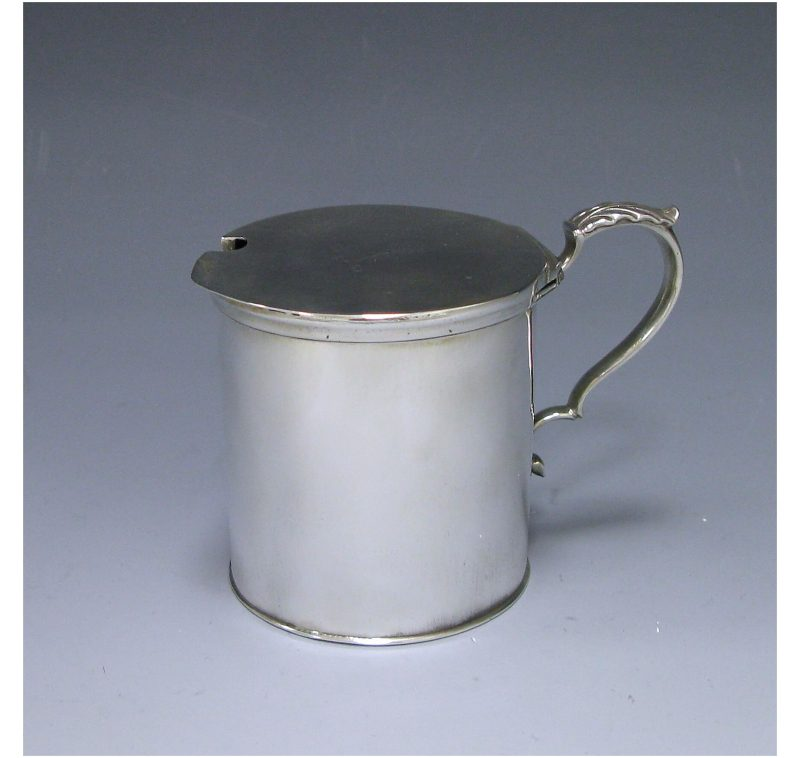 Antique Silver George III Drum Mustard made in 1773