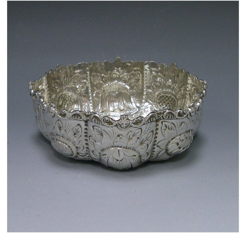 Antique Silver Victorian Bowl made in 1888