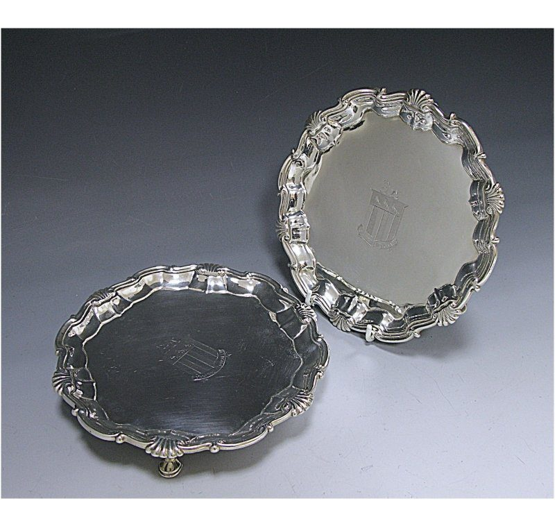 Pair of Matched Salvers made in 1749-67