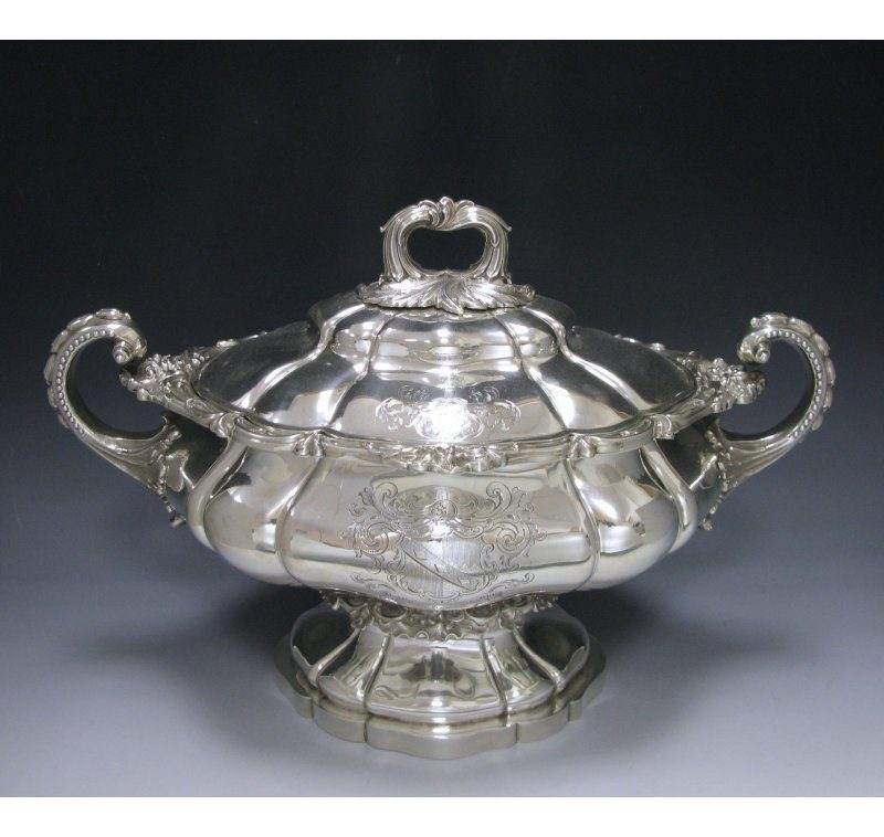 Antique Silver Victorian Soup Tureen made in 1841