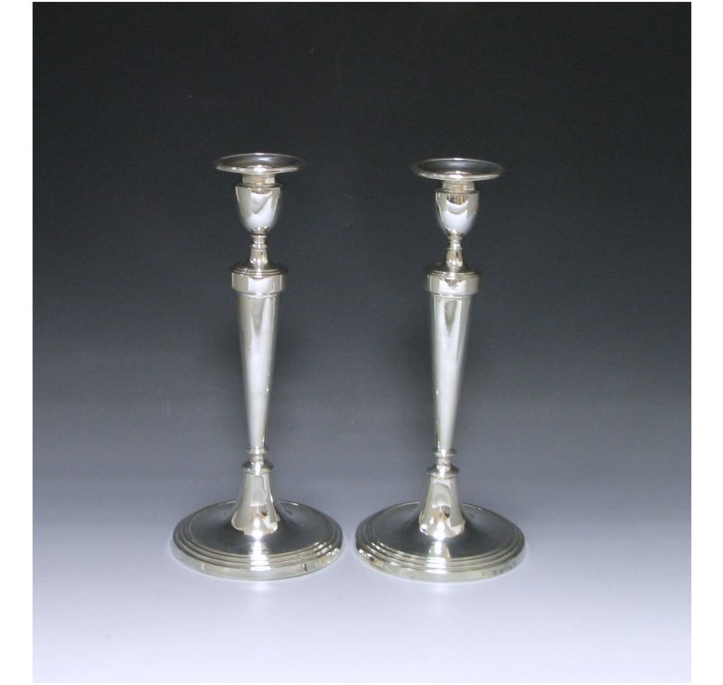 Pair of George III Antique Silver Candlesticks made in 1788