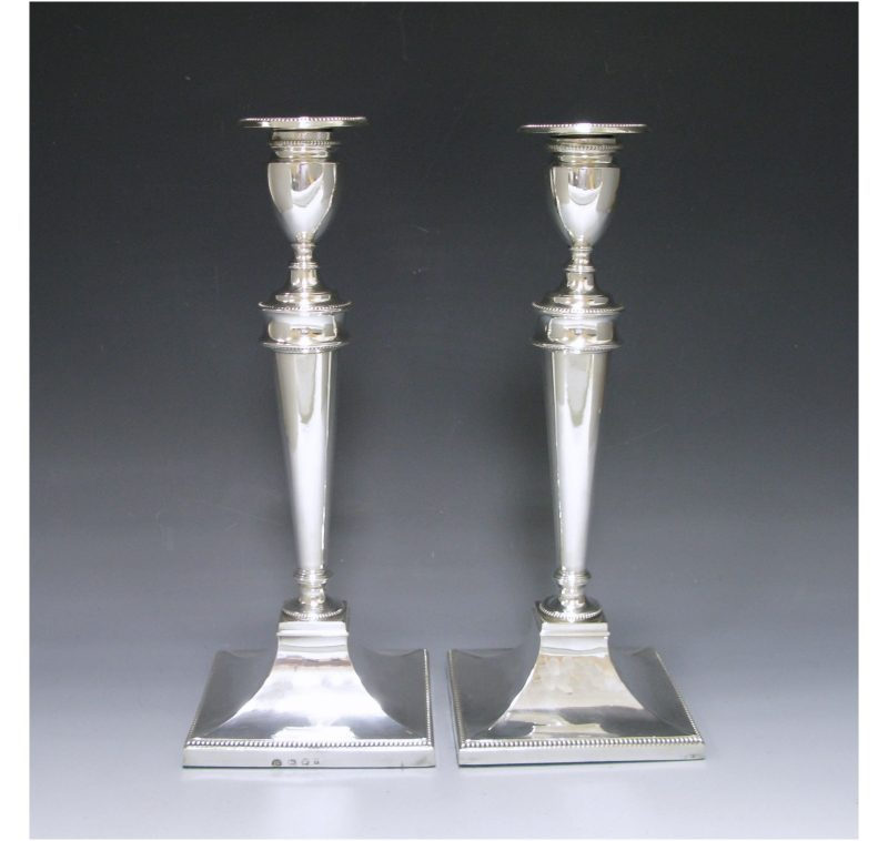 Pair of George III Antique Silver Candlesticks made in 1784
