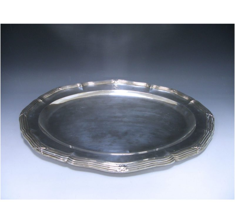 French Silver Meat Dish