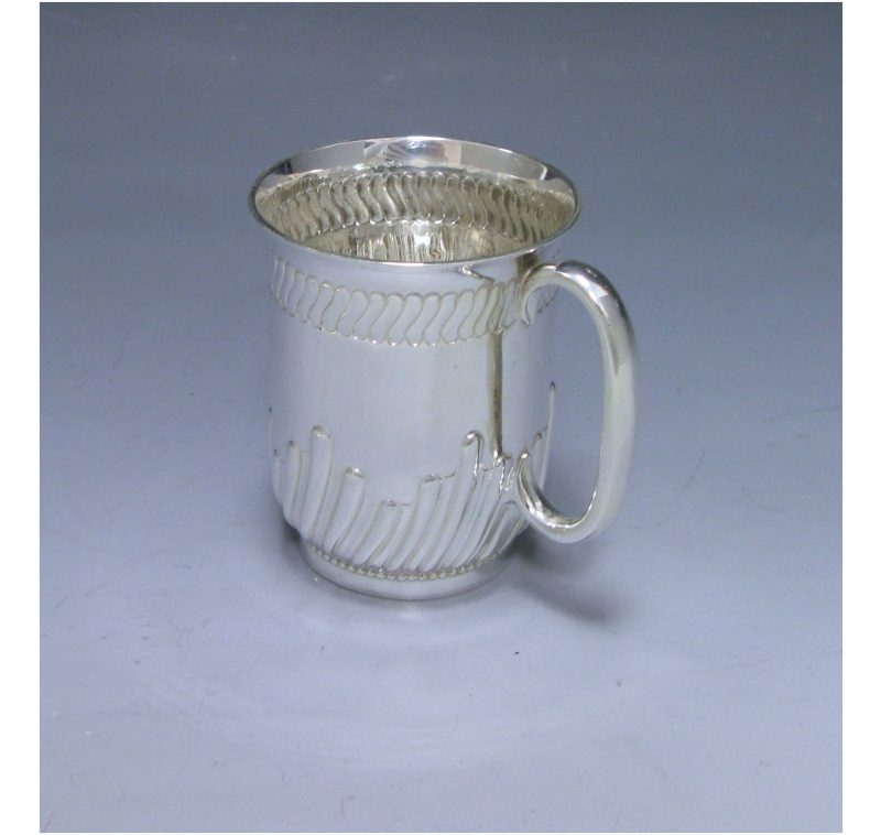 Antique Silver Victorian Child's Mug made in 1888