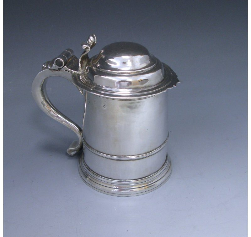 Antique Silver George I Tankard made in 1714