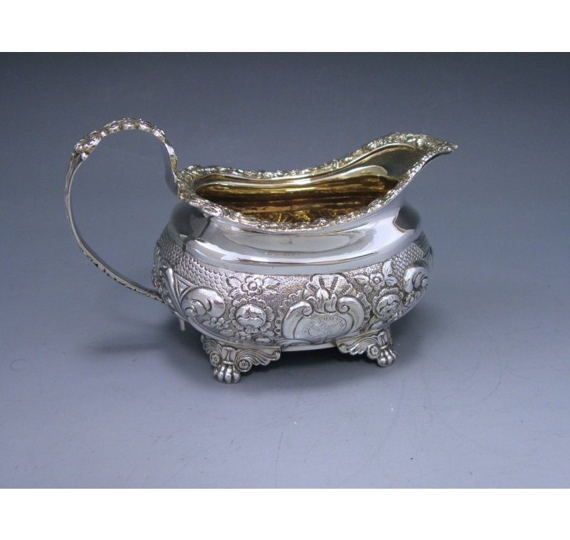 Antique Silver George III Cream Jug made in 1818