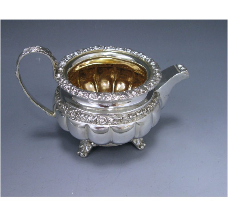 A George IV Antique Silver Cream Jug