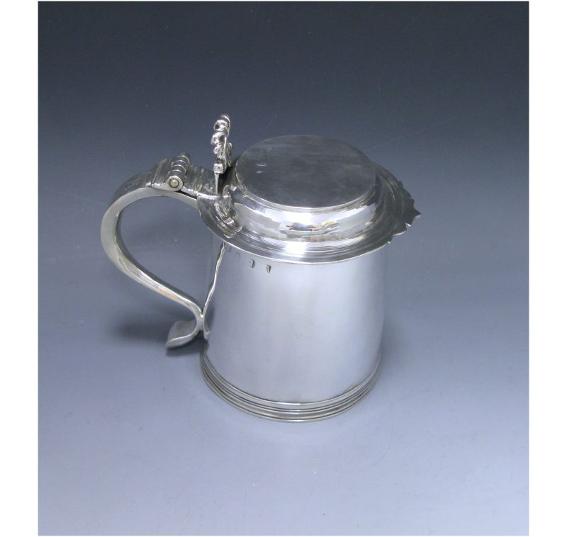 A Queen Anne Antique Silver Tankard
