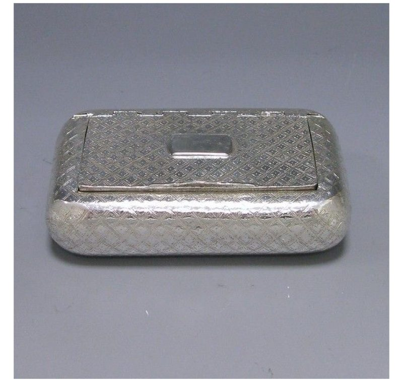 Antique Silver George III Snuff Box made in 1810