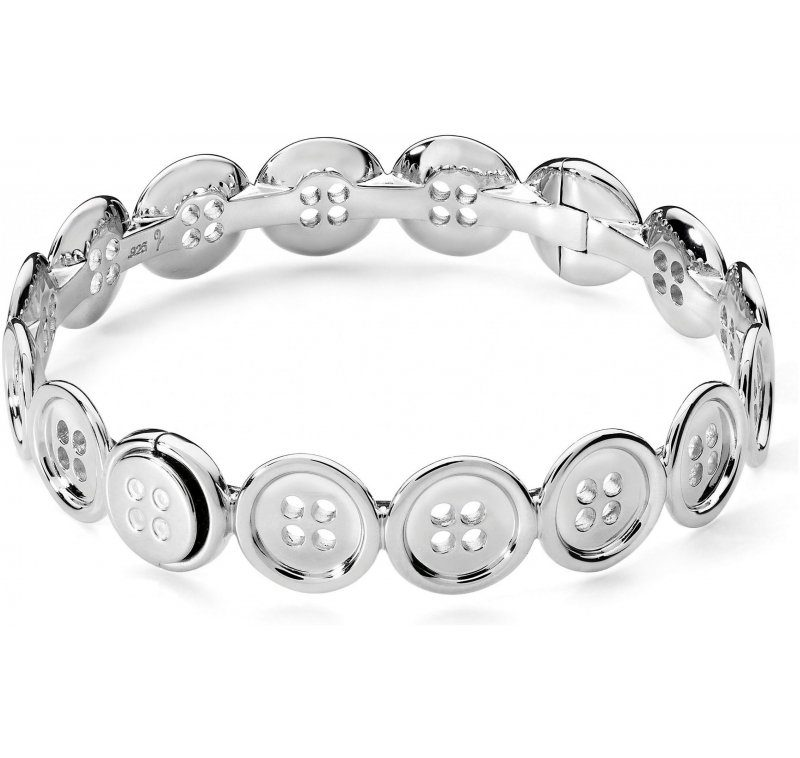 Sterling Silver Continual Button Bangle