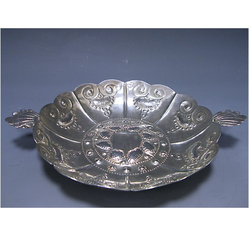 Antique Silver Charles I Two-Handled Sweetmeat Dish made in 1634