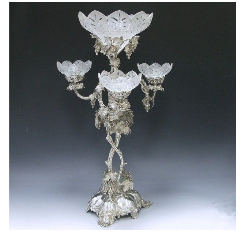 Silver Plate Victorian Epergne made in 1851