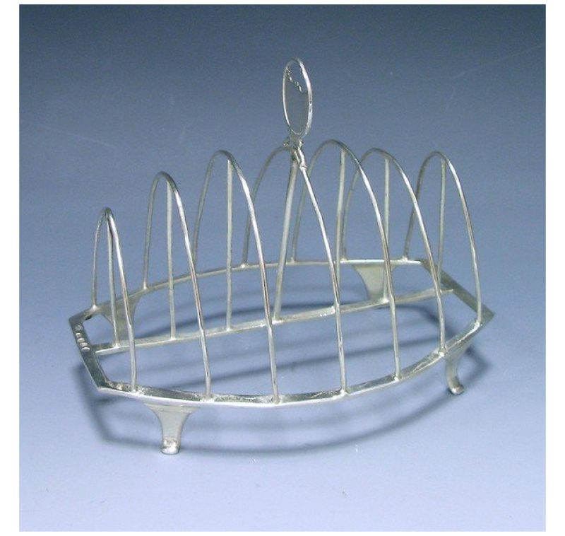 Antique Silver George III Toast Rack made in 1806