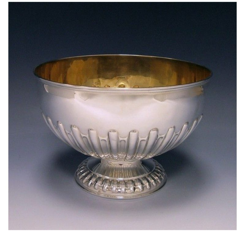 Antique Silver Edwardian Bowl made in 1904