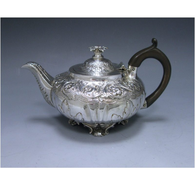Antique Silver William IV Teapot made in 1835