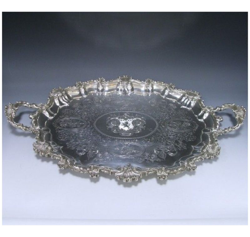 Antique Silver Tray
