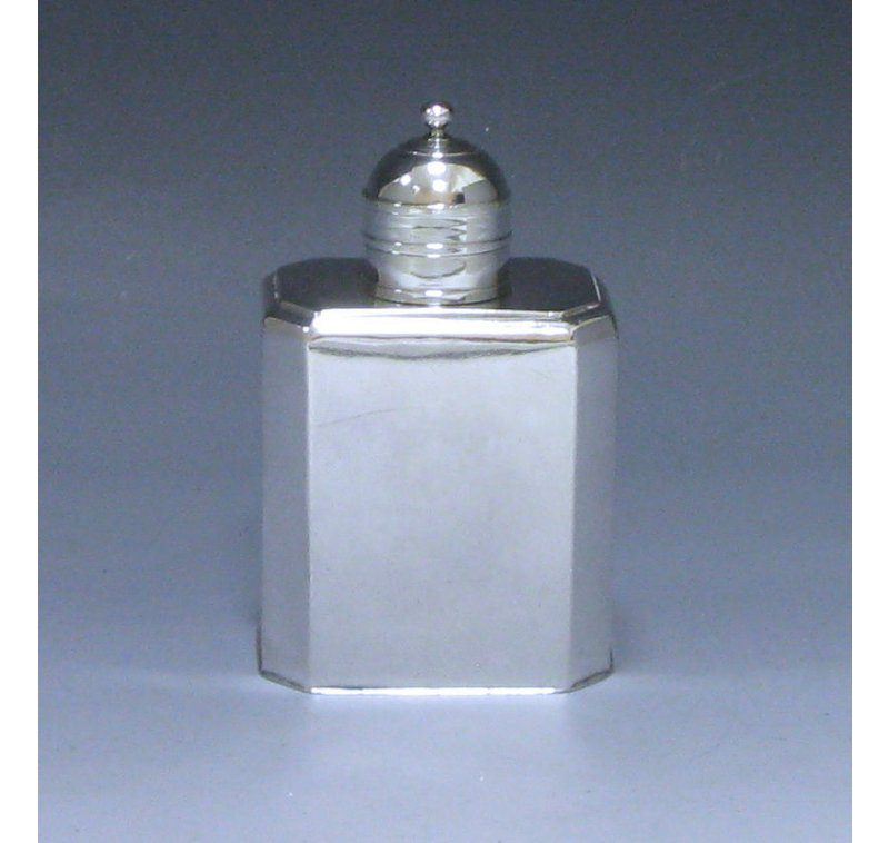 Antique Silver George I Tea Caddy