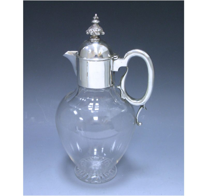 A Victorian Antique Silver-Mounted Claret Jug