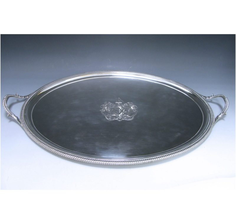Antique Silver George III Tray made in 1802