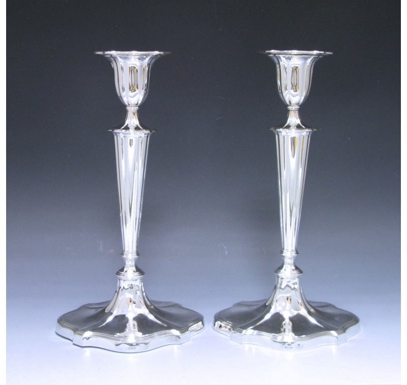 Pair of Victorian Antique Silver Candlesticks made in 1899