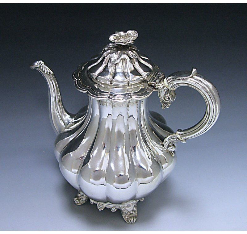 Antique Sterling Silver Victorian Coffee Pot made in 1846
