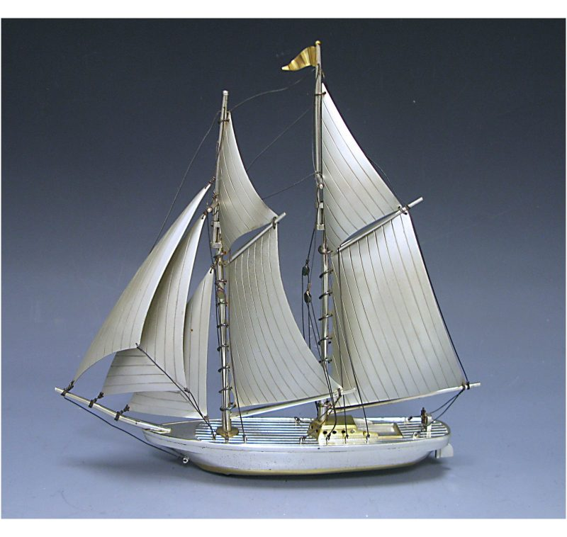 Silver Model of a Ship made in c.1950