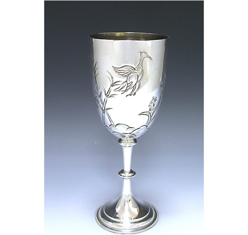 Antique Silver Victorian Goblet made in 1883