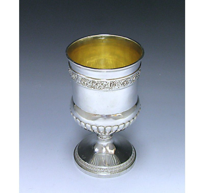 A George III Antique Sterling Silver Goblet