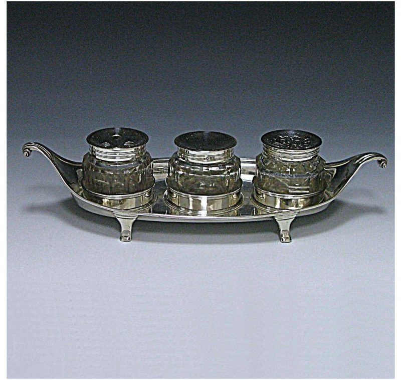 Antique Sterling Silver Inkstand
