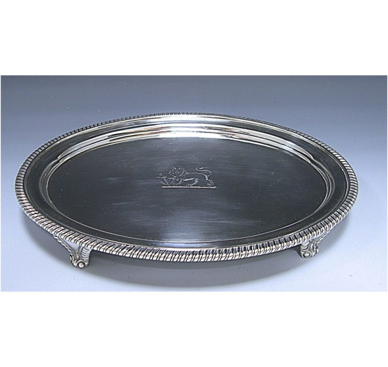 George III Antique Sterling Silver Salver