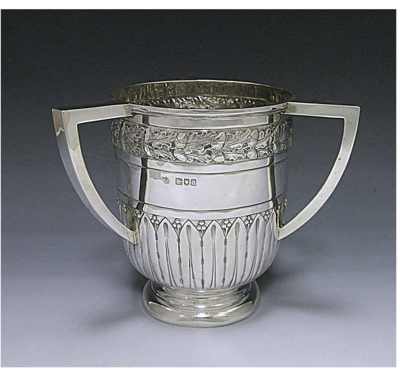 Antique Silver Victorian Loving Cup made in 1898