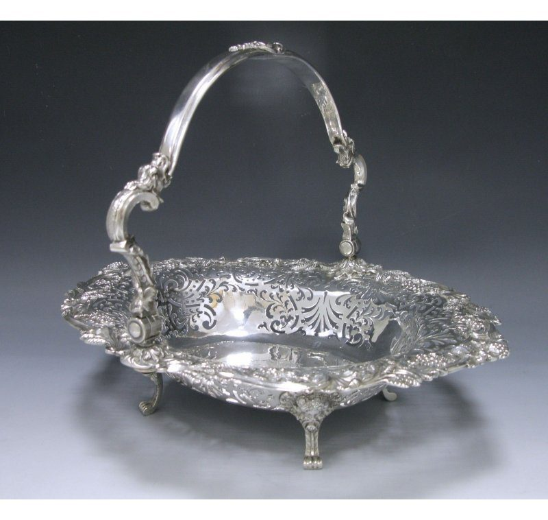 Antique Silver George II Cake Basket made in 1751