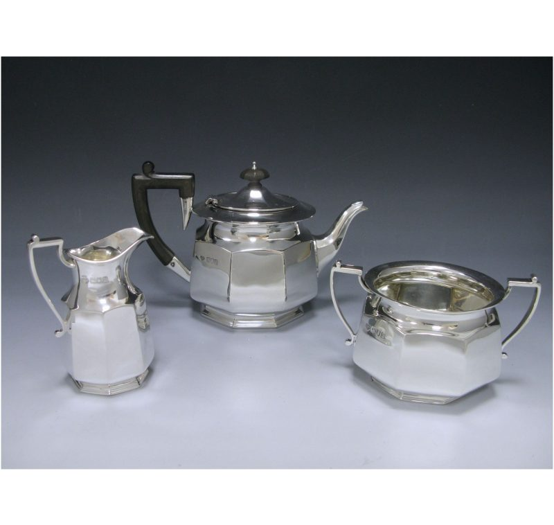 A Three Piece Bachelor Tea Set