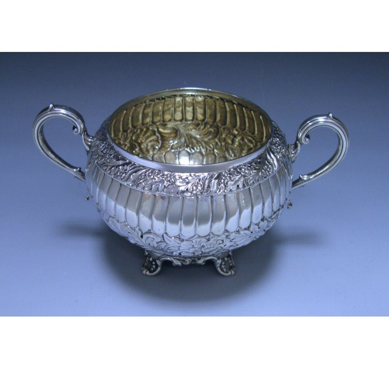 Antique Silver Victorian Two-Handled Bowl made in 1880