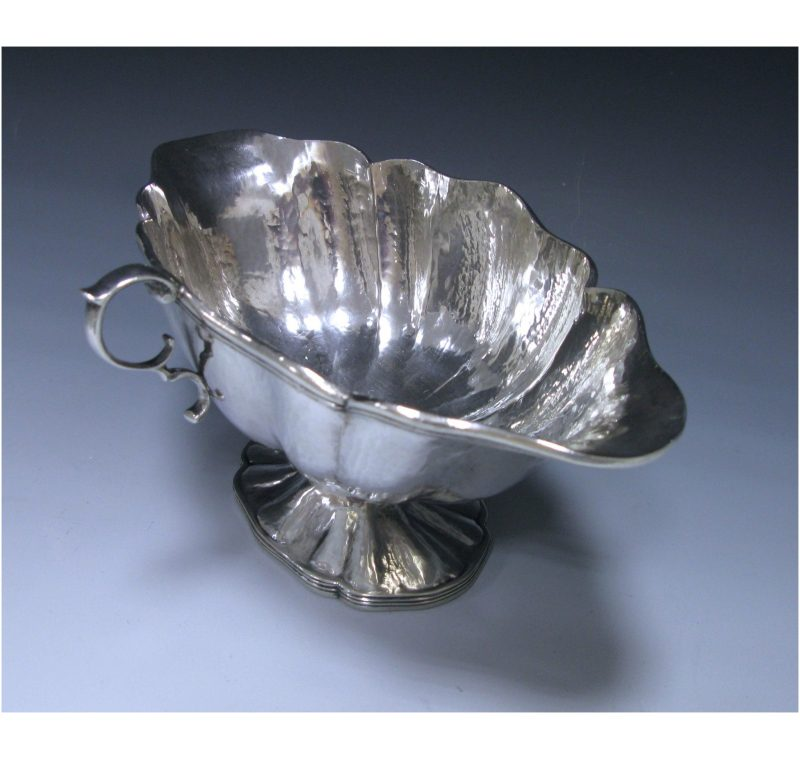 Spanish Sterling Silver Double -Lipped Sauce Boat