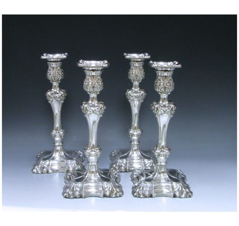 Four Sterling Silver Candlesticks