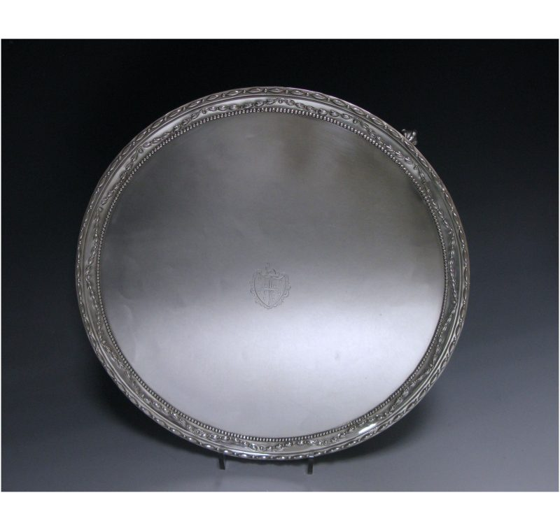 A George III Antique Silver Salver,