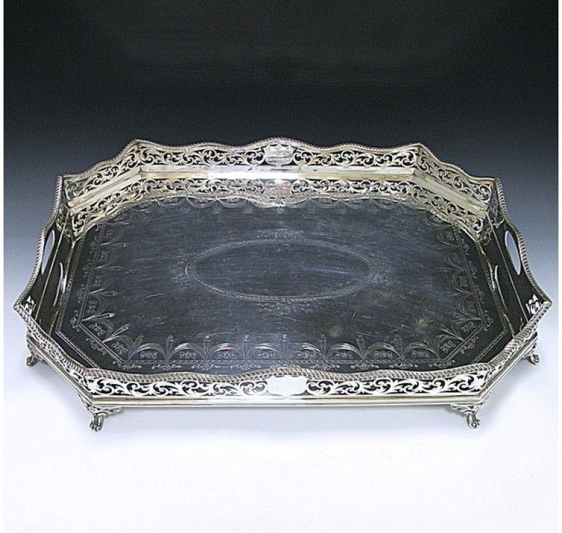 Sterling Silver Gallery Tray