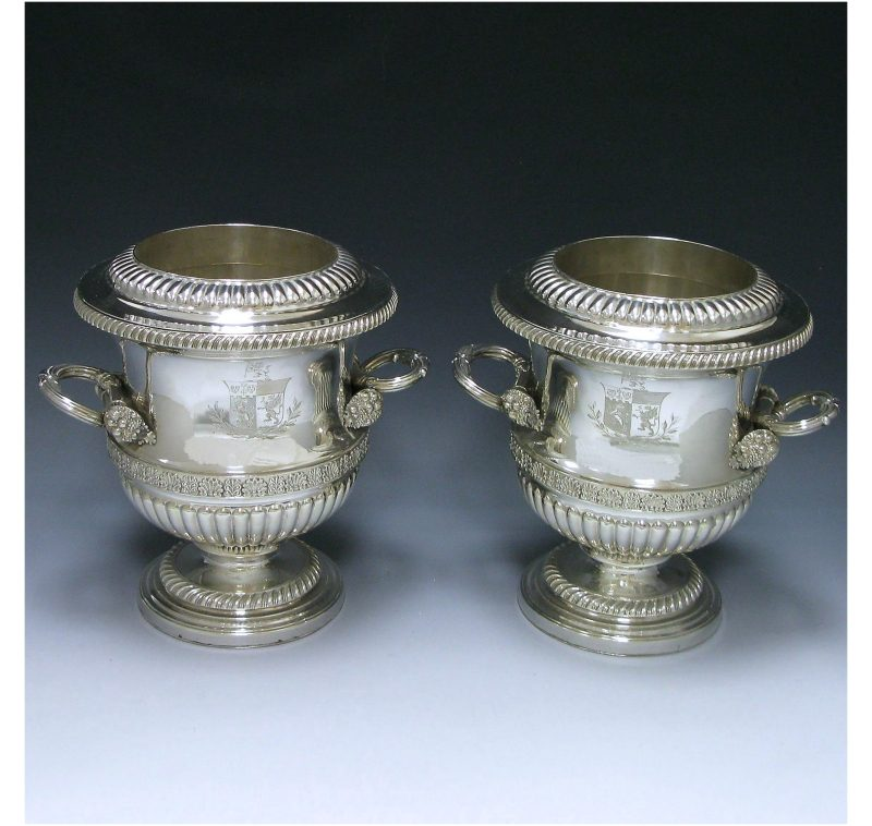 Pair of Old Sheffield Plate Wine Coolers made in c.1815
