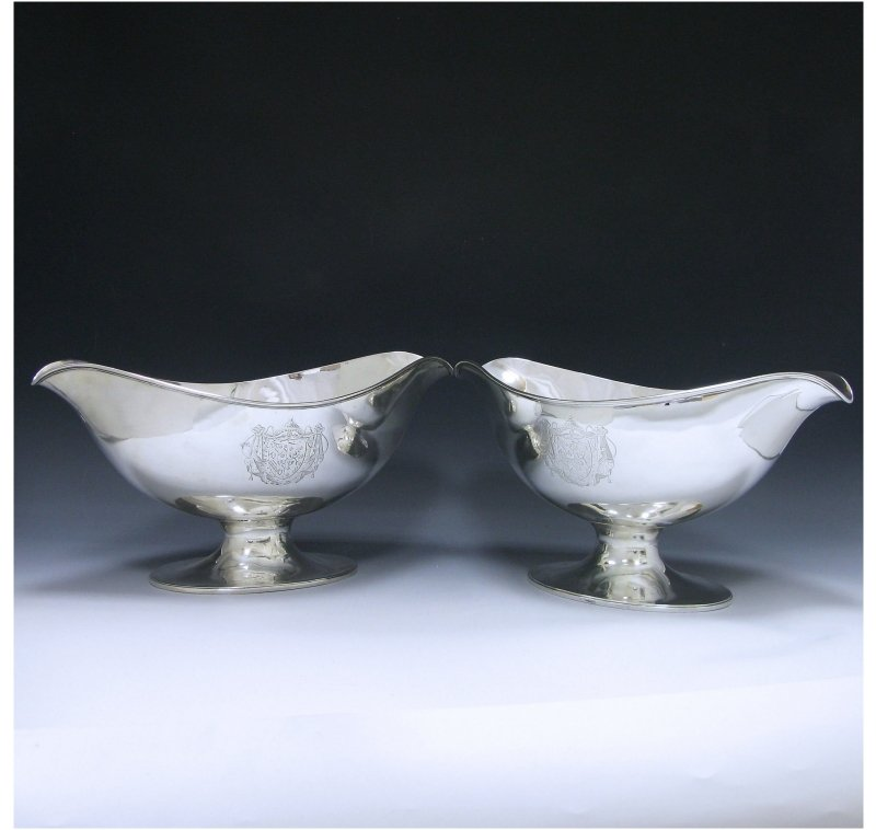 Pair of George III Antique Silver Bottle Coolers made in 1785-89