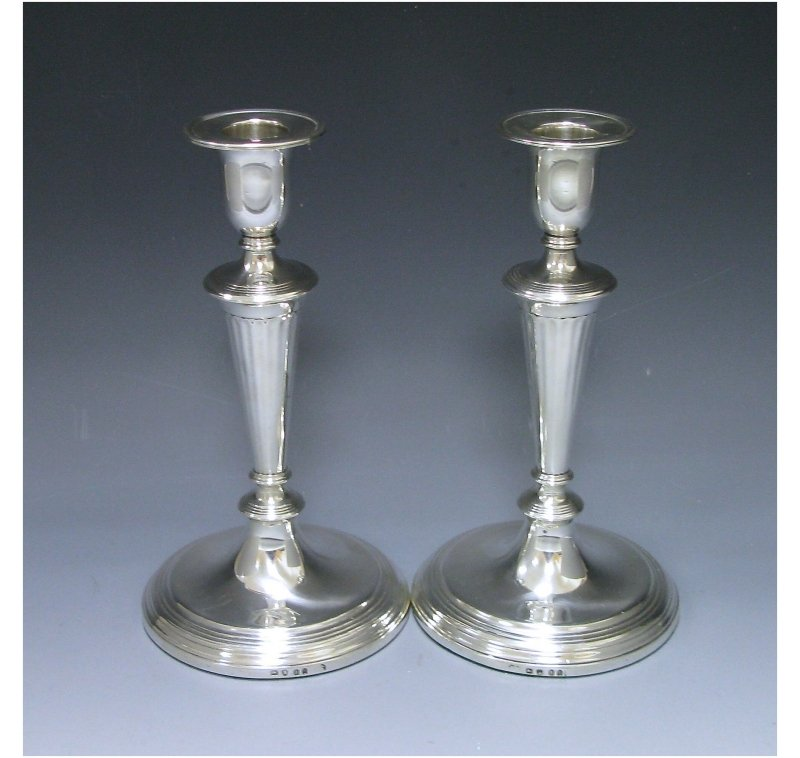 Pair of George III Antique Silver Candlesticks made in 1797