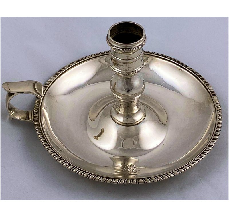 Antique Silver George III Chamberstick made in 1805