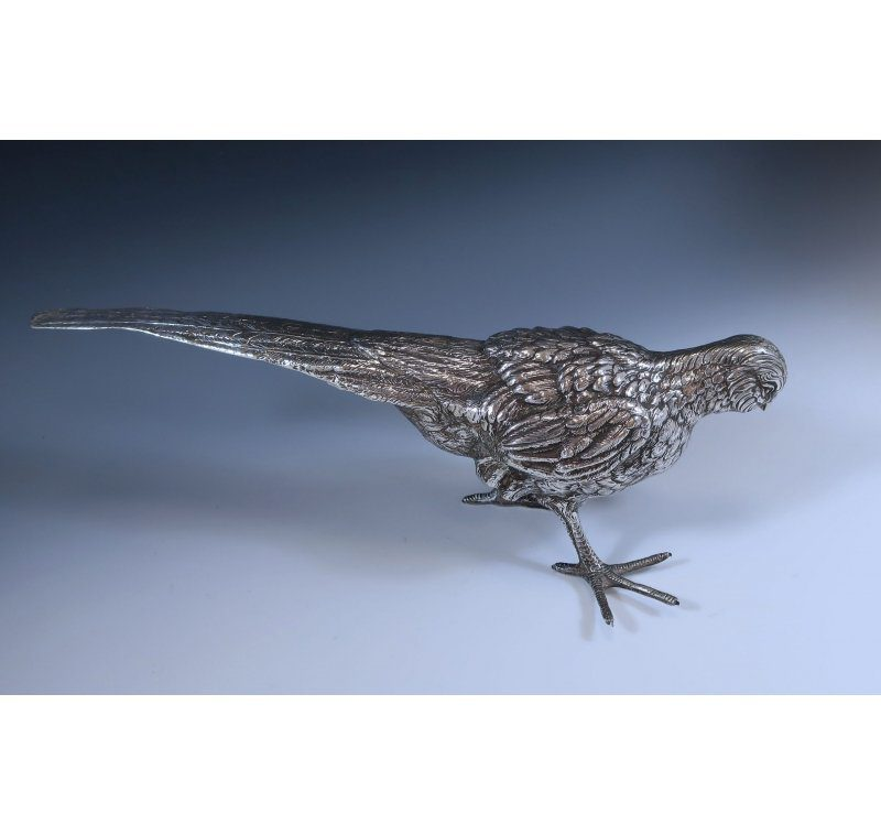 Spanish Silver Model of a Pheasant made in c.1950