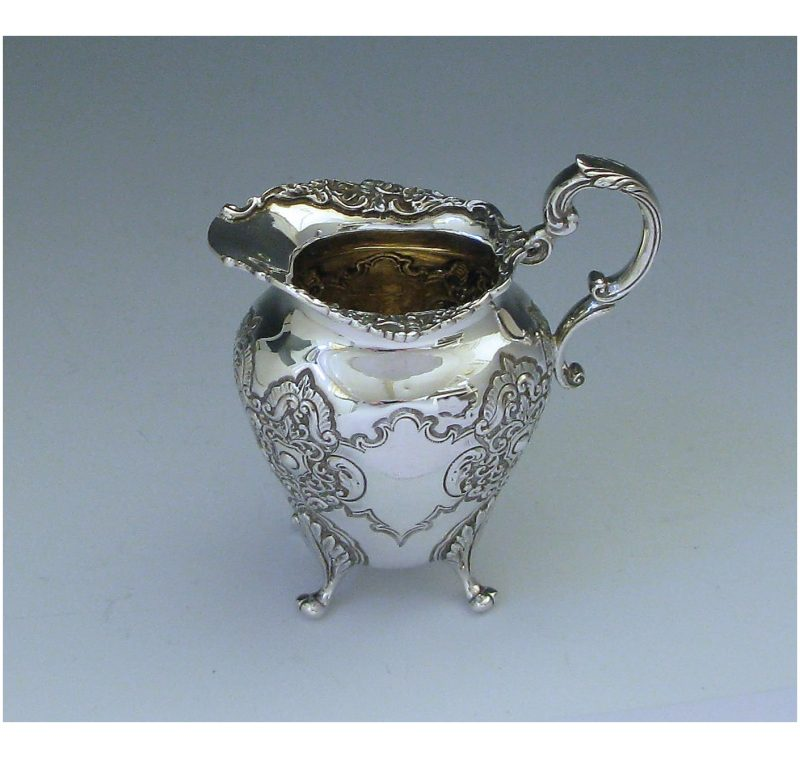 Antique Silver Victorian Cream Jug made in 1900