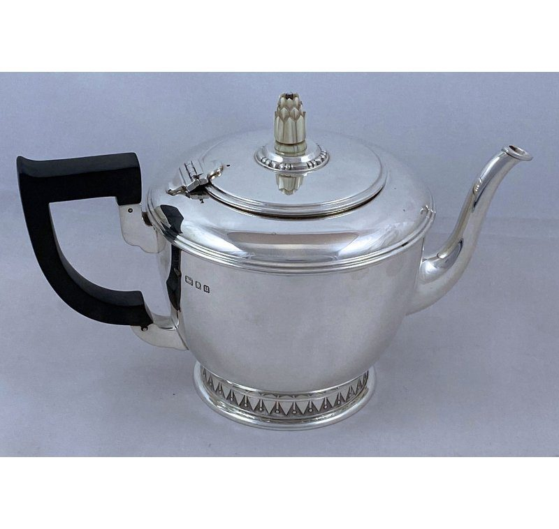 Hallmarked Silver Art Deco Teapot made in 1935