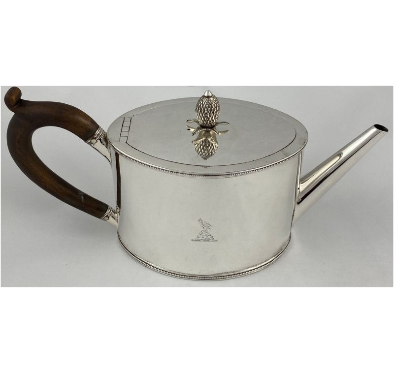 Antique Silver George III Teapot made in 1788