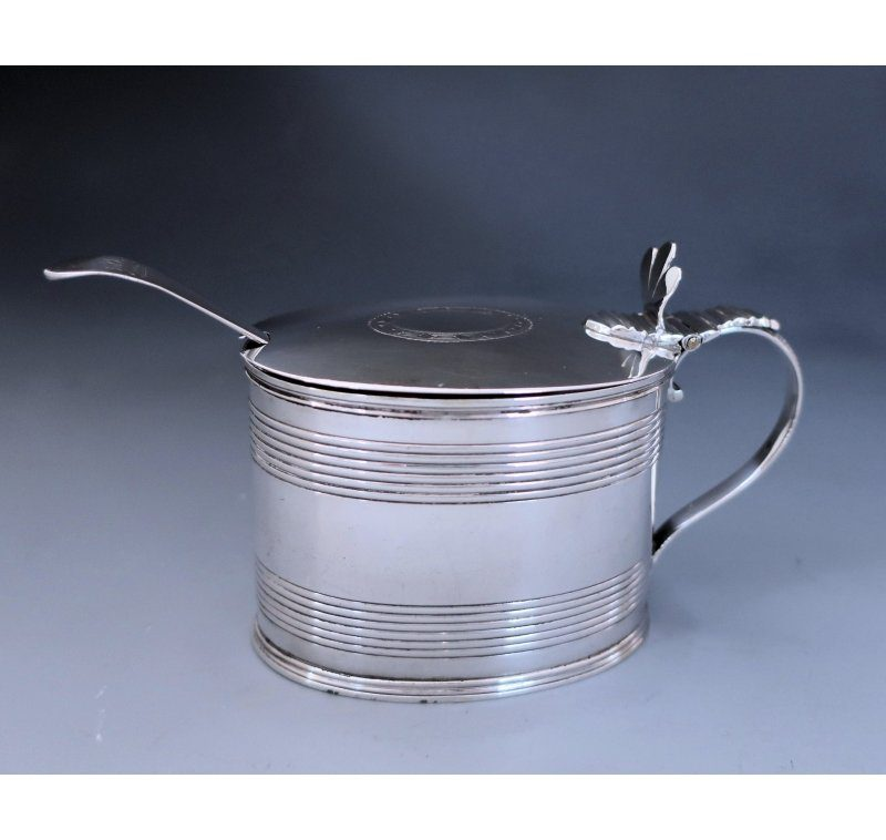 Antique Silver George III Mustard Pot made in 1796