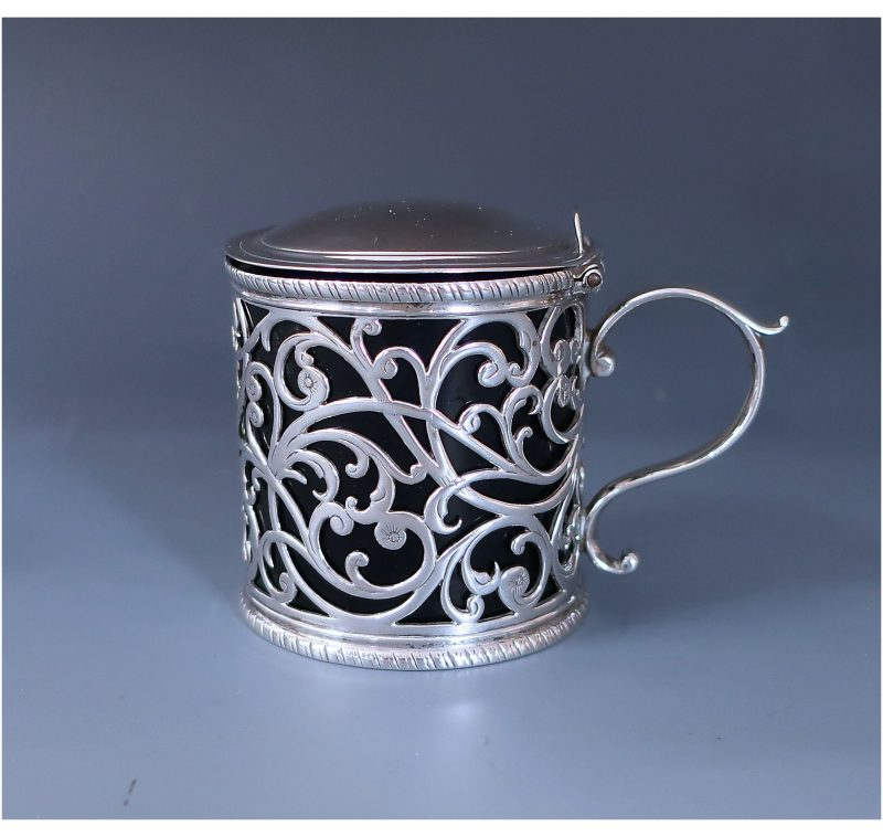 Antique Silver George III Rare Mustard Pot made in 1773
